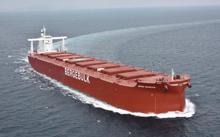 A Berge Bulk vessel at sea