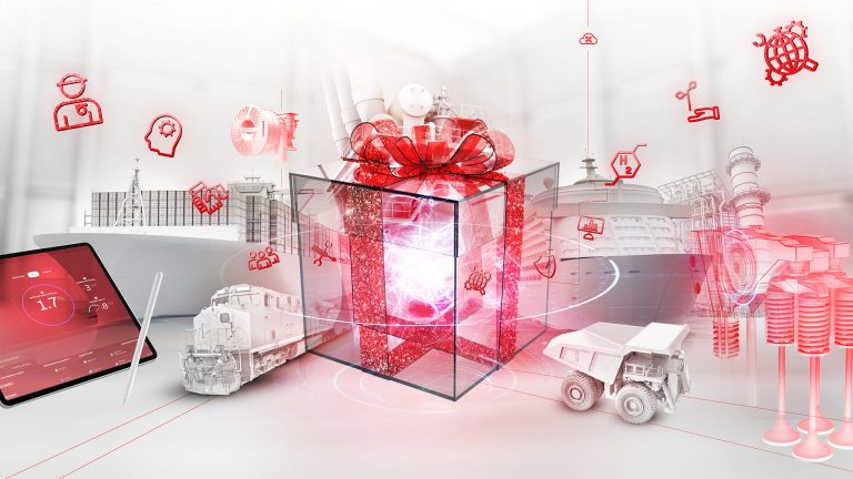 Artwork showing wrapped up presents