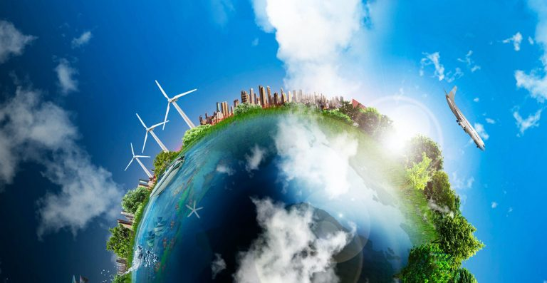An abstract image of the world for World Energy Day