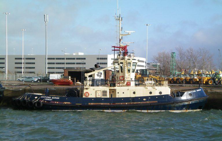 The Svitzer Sarah ship running ABB turbochargers